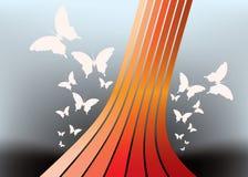 Abstracte vectorachtergrond - vlinder Royalty-vrije Stock Afbeeldingen