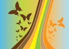 Abstracte vectorachtergrond - vlinder Royalty-vrije Stock Foto's