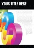Abstracte vectorachtergrond voor brochure of affiche Stock Afbeelding