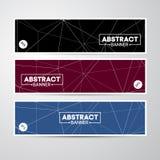 Abstracte vectorbanner Stock Foto
