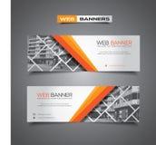 Abstracte vectorbanner voor Webmalplaatje of druk Royalty-vrije Stock Foto's