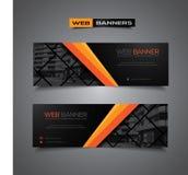 Abstracte vectorbanner voor Webmalplaatje of druk Royalty-vrije Stock Foto