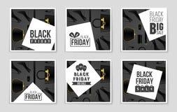 Abstracte vectorblack friday-lay-outachtergrond Voor creatief kunstontwerp, lijst, pagina, de stijl van het modelthema, banner, c Stock Foto's