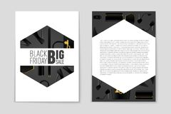 Abstracte vectorblack friday-lay-outachtergrond Voor creatief kunstontwerp, lijst, pagina, de stijl van het modelthema, banner, c Stock Afbeelding