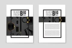Abstracte vectorblack friday-lay-outachtergrond Voor creatief kunstontwerp, lijst, pagina, de stijl van het modelthema, banner, c Royalty-vrije Stock Afbeelding