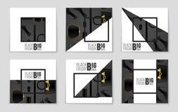 Abstracte vectorblack friday-lay-outachtergrond Voor creatief kunstontwerp, lijst, pagina, de stijl van het modelthema, banner, c Royalty-vrije Stock Foto's