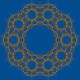 Abstracte vectorcirkel bloemen siergrens Royalty-vrije Stock Foto