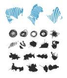 Abstracte vectordieachtergrond voor ontwerpgebruik wordt geplaatst Royalty-vrije Stock Foto