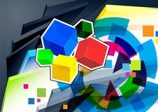 Abstracte vectorillustratie Stock Illustratie