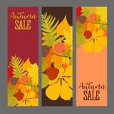 Abstracte Vectorillustratie Autumn Sale Background met Dalend Autumn Leaves vector illustratie