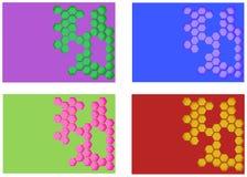 Abstracte vectorlay-outreeks als achtergrond Voor het ontwerp van het kunstmalplaatje, lijst, voorpagina, het themastijl van de m Royalty-vrije Stock Afbeeldingen