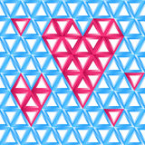 Abstracte vectorliefdekaart vector illustratie
