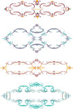 Abstracte vectorontwerpelementen, grenzen stock illustratie