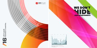 Abstracte vectorontwerpelementen voor grafische lay-out Stock Foto's