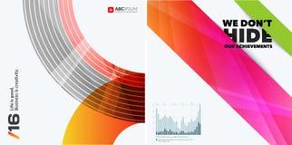 Abstracte vectorontwerpelementen voor grafische lay-out Royalty-vrije Stock Afbeeldingen