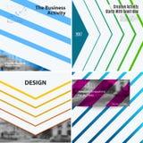Abstracte vectorontwerpelementen voor grafische lay-out Royalty-vrije Stock Foto's