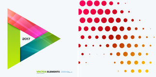 Abstracte vectorontwerpelementen voor grafische lay-out Modern bedrijfsmalplaatje als achtergrond met kleurrijke driehoeken, Stock Fotografie