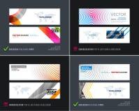 Abstracte vectorreeks moderne horizontale websitebanners Royalty-vrije Stock Afbeelding