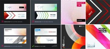Abstracte vectorreeks moderne horizontale websitebanners Stock Fotografie