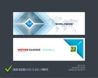 Abstracte vectorreeks moderne horizontale websitebanners Stock Foto's