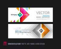Abstracte vectorreeks moderne horizontale websitebanners Royalty-vrije Stock Foto