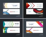 Abstracte vectorreeks moderne horizontale websitebanners Royalty-vrije Stock Foto's