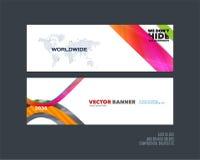 Abstracte vectorreeks moderne horizontale websitebanners Royalty-vrije Stock Foto