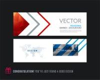 Abstracte vectorreeks moderne horizontale websitebanners Royalty-vrije Stock Fotografie