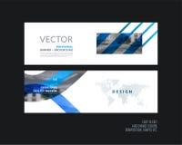 Abstracte vectorreeks moderne horizontale websitebanners Stock Foto