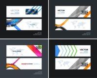 Abstracte vectorreeks moderne horizontale websitebanners Stock Afbeelding