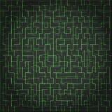Abstracte vectortechnologieachtergrond, digitaal labyrint Stock Fotografie