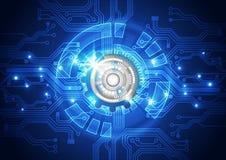 Abstracte vectortechnologieachtergrond, illustratie Stock Foto