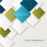 Abstracte vectorvierkantenachtergrond Stock Foto's