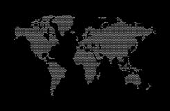 Abstracte vectorwereldkaart Wereldkaart van punt Vector illustratie vector illustratie