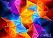 Abstracte Veelhoekachtergrond Royalty-vrije Stock Afbeelding