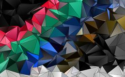 Abstracte veelhoekige achtergrond Royalty-vrije Stock Afbeeldingen