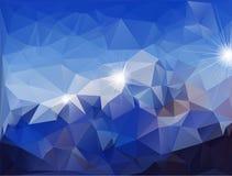 Abstracte veelhoekige achtergrond Stock Fotografie