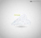Abstracte veelhoekige ruimte lage polyachtergrond met het verbinden van punten en lijnen Verbindingsstructuur Vectorwetenschap Stock Afbeeldingen