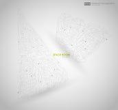 Abstracte veelhoekige ruimte lage polyachtergrond met het verbinden van punten en lijnen Verbindingsstructuur Vectorwetenschap Stock Foto