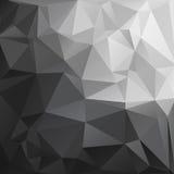 Abstracte Veelhoekige Zwart-witte Tone Background Stock Afbeelding