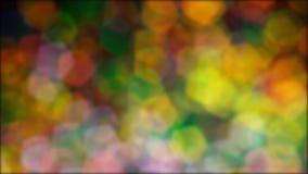 Abstracte veelkleurig schittert blured lichten en fonkelingen stock videobeelden