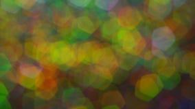 Abstracte veelkleurig schittert blured lichten en fonkelingen stock footage