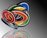 Abstracte veelkleurige 3d vormen Royalty-vrije Stock Afbeeldingen