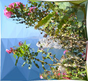 Abstracte veelkleurige mozaïekachtergrond Het vector Art Royalty-vrije Stock Afbeelding