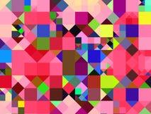 Abstracte veelkleurige vierkantenachtergrond Stock Foto's