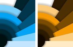 Abstracte ventilatorachtergrond vector illustratie