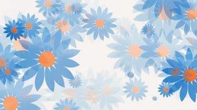 Abstracte veranderende bloemen op wit vector illustratie
