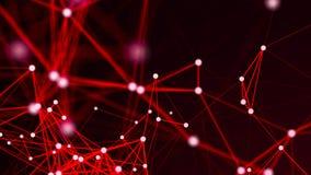 Abstracte verbindingen op rode achtergrond Royalty-vrije Stock Foto