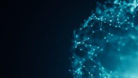 Abstracte verbindingspunten De achtergrond van de technologie Digitaal tekenings blauw thema Het concept van het netwerk royalty-vrije illustratie
