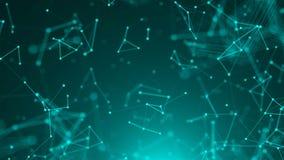 Abstracte verbindingspunten De achtergrond van de technologie Het concept van het netwerk royalty-vrije illustratie